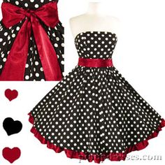 I think I will try to find myself a dress in this style. I love the polka dots!!