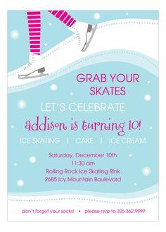 Sweet Skating Invitation