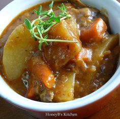 Deeeeelish venison stew. Just made it. Very flavorful. Goes well with rosemary bread!
