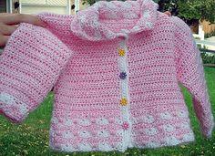 Pretty Baby Cardigan  by Marilyn Coleman - free crochet pattern