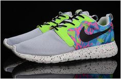 save off 2e646 0dbbd 2015 Nike Roshe Run HYP QS 3M Luminous Lovers Shoes Mens Sneakers  Grey Green Blue Black Pink Online