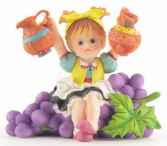My Little Kitchen Fairies | Sweet Vineyard Fairie, Fairy Figurine