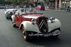 Citroën Traction 11 CV cabriolet Retro Cars, Vintage Cars, Antique Cars, Art Deco Car, Citroen Traction, Traction Avant, Citroen Car, Veteran Car, Automobile Companies