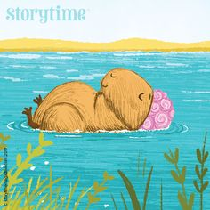 A cool Capybara – one of many letter C animals in our Alphabet Zoo poetry series, illustrated by Tim Budgen (http://timbudgen.com) and in Storytime Issue 31! ~ STORYTIMEMAGAZINE.COM