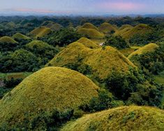 Bohol chocolate hills at sunset Chocolate Hills, Bohol Philippines, Drone Photography, Shots, River, Sunset, Drones, Spotlight, Places
