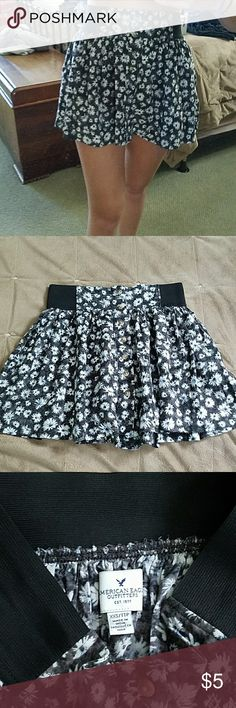 American Eagle Floral Button Down Skirt Very soft material and elastic waist band American Eagle Outfitters Skirts Mini