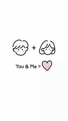 Cute Couple Drawings, Cute Little Drawings, Cute Couple Art, Cute Drawings, Soft Wallpaper, Kawaii Wallpaper, Aesthetic Art, Aesthetic Anime, Cute Couple Wallpaper