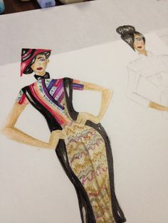 Illustration by Diana Le (Fashion Design student at LaSalle - http://www.lasallecollegevancouver.com/programs/fashion-design.aspx)