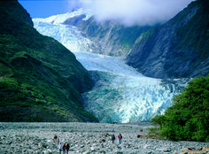 new zealand.. fox glacier....we did the helicopter trip, landing on the glacier and having a walk around.