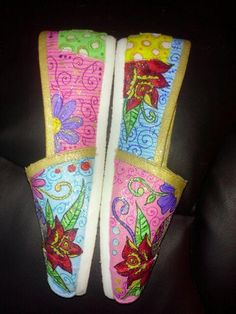 Dia De Los Muertos hand painted TOMS by MyHeartToYourSole on Etsy