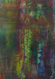 Gerhard Richter - I like this illustration based on the colours used. The top half of the illustration is the reflection in water.