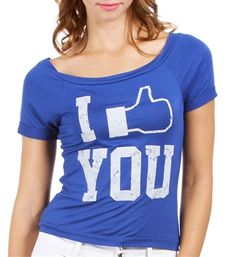 I Like You Graphic Tee (Facebook)