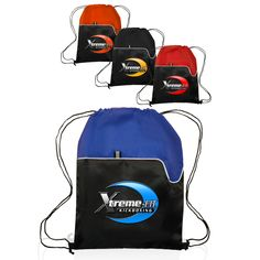 Drawstring Bags with Gusseted Mesh Pocket (Q572311) | Products ...