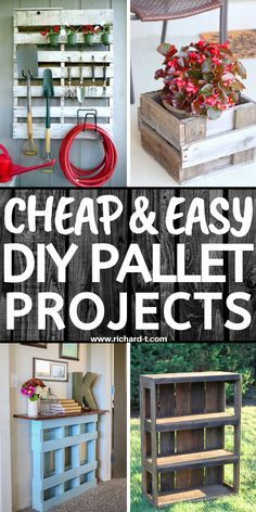 20 Cheap & easy DIY pallet projects for your home! These pallet projects are simply AMAZING! Diy Pallet Wall, Wood Pallet Signs, Pallet Art, Diy Pallet Projects, Making Pallet Furniture, Diy Furniture Hacks, Pallet Coat Racks, Pallet Storage, Pallet Photo Frames