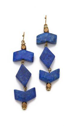 Vanessa Mooney The Mesa Dangle Earrings - Lapis