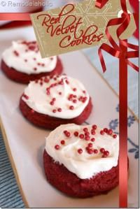 Red Velvet Cookies: Semi Homemade! These are almost too pretty to eat! They are moist and delicious!
