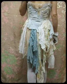 A tattered medley of stitches & lace,