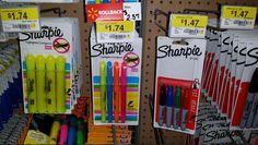 Sharpie Rotuladores 4pk Sólo $ 0.47 En Walmart!
