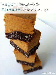 Peanut butter Eatmore Brownies.  I love Eatmores!!!!!Vegan-Peanut-butter-Sqaures