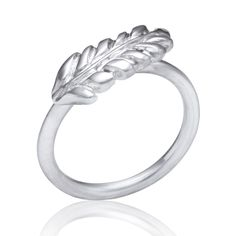 Sterling Silver Fern Ring  Thin sterling silver ring with organic fern detail   $135
