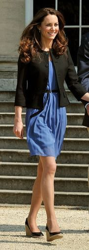 Kate Middleton-still one of my faves. On her way to her honeymoon, no bags, no purse, no passport-how we should all be...if we just married the future king!