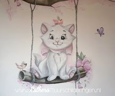 How sweet for the nursery. How sweet for the … - Jungle Decorations, Tom And Jerry Cartoon, Gata Marie, Kids Room Murals, New Disney Princesses, Disney Cats, Disney On Ice, Baby Banners, Cute Doodles
