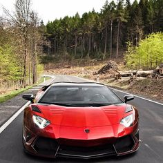 Red Lamborghini Aventador & The Great Outdoors