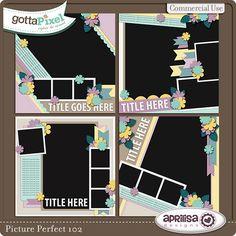 Picture Perfect 102 Digital Scrapbooking Templates by Aprilisa Designs @ gottapixel.net