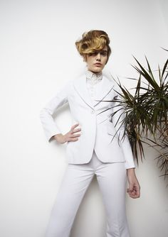 SS 2013 #ss13 #london #fashion #awake #nataliaalaverdian #trends #smart #white #suit