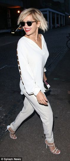 Rita Ora wears SAME white trouser ensemble to party in London  dailymail  Finlay   Co 5f648cdf4
