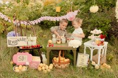 Lemonade Stand Party Theme  |  photos by miss ann
