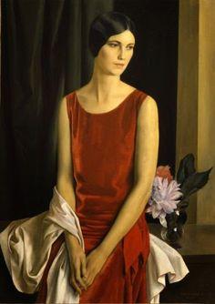 Portrait of Mary Louise McBride (Mrs. Homer Saint-Gaudens), 1929,  Louis Buisseret (1888-1956, Belgian)
