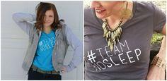 #TeamNoSleep V Neck Tees - NEW STYLES | Sassy Steals