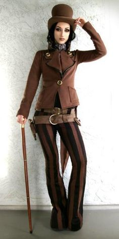 Not your typical steam punk dress (I'm diggin' the pants!)