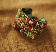 paper beads on cuff