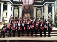 One of our young choirs perform in a church in Ghent.
