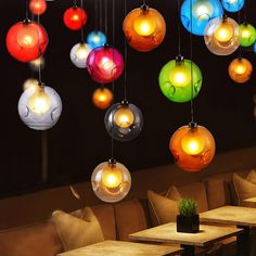 Possi Wired Colorful Globe Glass Single Light Pendant - Pendant Lights - Ceiling Lights - Lighting