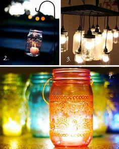 Top 10 Mason Jar ideas - -4  Lights