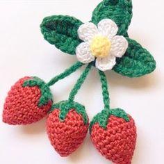 Crochet Fruit, Crochet Food, Crochet Flowers, Crochet Coin Purse, Crochet Shoes, Crochet Earrings, Crochet Hair Accessories, Crochet Hair Styles, Japanese Nail Art