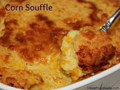 Corn Souffle - makes for an excellent side dish!