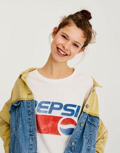 Футболка Pepsi - Футболки - Одежда - Для Женщин - PULL&BEAR Российская Федерация