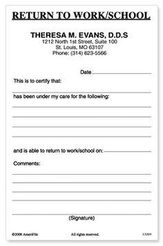 Hospital Doctors Excuse Forms | Dr Excuse Slip http://www.amerifile.net/group.asp?cid=4&gid=583