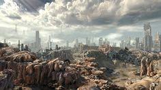 video games landscapes ruins postapocalyptic desert rocks stones apocalypse rage video game deser_www.wallpaperhi.com_56