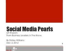 #SocialMedia Pearls of Wisdom from Business Leaders