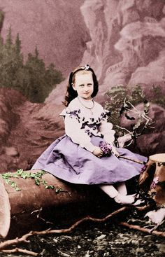 Grand Duchess Elizabeth Feodorovna (1864 – 1918) as a child. Late 1860s – early 1870s. She was a German princess, a wife of Nicholas II's uncle and a sister of Empress Alexandra Feodorovna. #Russian #history #Romanov