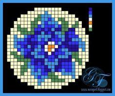 "Photo from album ""Бутоньерки мини"" on Yandex. Seed Bead Patterns, Peyote Patterns, Loom Patterns, Beading Patterns, Stitch Crochet, Peyote Stitch, Mini Cross Stitch, Cross Stitch Flowers, Beaded Embroidery"