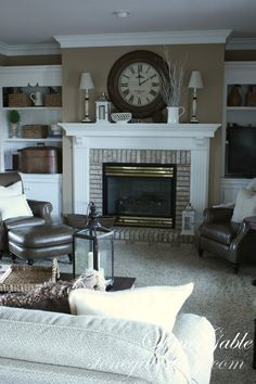 Mantel layout but something different than the lamps