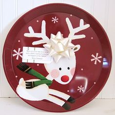 When out on the lawn there arose such a clatter, I sprang from my bed and tripped on this 'platter'! Merry Christmas!