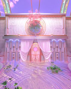 labyrinth lobby 360 experience - blake kathryn Aesthetic Space, Pink Aesthetic, Vaporwave, Aesthetic Backgrounds, Aesthetic Wallpapers, Fantasy Landscape, Retro Futurism, Dream Rooms, Fantasy World