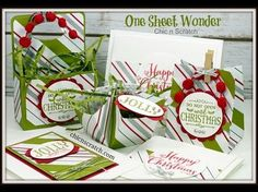One Sheet Wonder - Featuring Oh What Fun Stamp Set by Stampin' Up! - YouTube